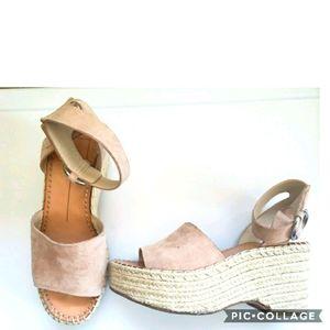 Dolce vita pink nude platform sandals 6